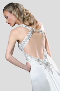 Glamour Sheath Evening Gown with Beaded Embellishment Enhanced V Neckline pictures & photos