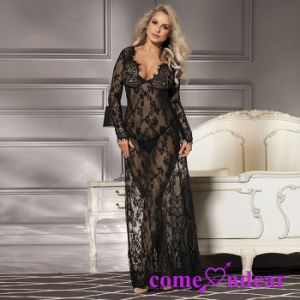 Two Color Four Size Lace Hot Ladies Sexy Nightwear pictures & photos