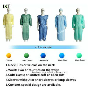 PP /SMS Sterile Disposable Medical Gowns / Isolation Gown pictures & photos