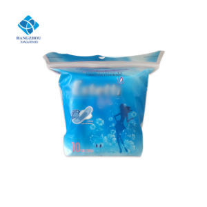 280mm Best China Supplier Ultra Thin Sanitary Napkin with Printed Blue Center pictures & photos