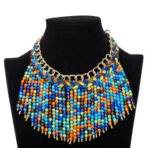 Wholesale Handmade Multicolor Bead Pendant Necklace Fashion Jewelry pictures & photos