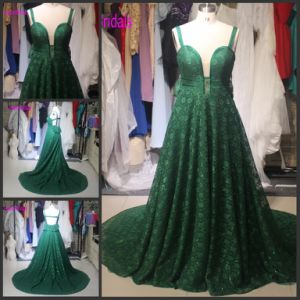 Green Lace Prom Party Dress Vestidos Corset Evening Dresses T92644 pictures & photos