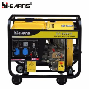 Air-Cooled Open Frame Type Single Cylinder Diesel Generator (DG3000E) pictures & photos