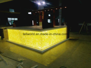 Luxury Modern Fancy Design Square Shape LED Translucent Bar Counter for Restaurant pictures & photos