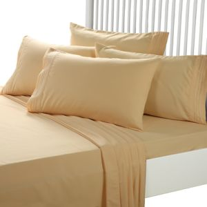 High Quality Brushed Microfiber Fitted Bed Sheets for Home (DPF1035) pictures & photos