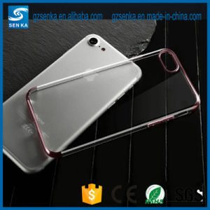 New Electroplate Ultra Thin Transparent Cheap TPU Cell Phone Cover Case for Samsung S7 pictures & photos
