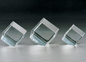 Customized Blank Crystal Glass Block Cube for 3D Laser Engraving or Sandblasting pictures & photos