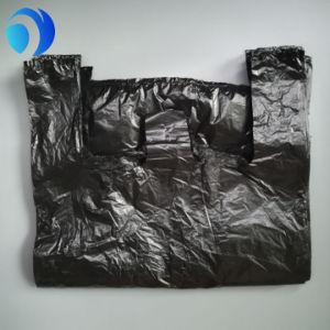 Virgin HDPE Black T-Shirt Plastic Bag pictures & photos