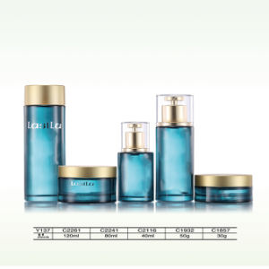 Luxury Empty Cosmetic Glass Airless Pump Spray Bottle and Jars pictures & photos
