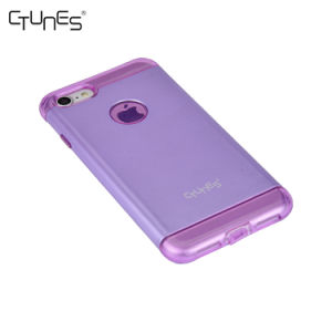 Hybrid Dual Layer Matte Hard Shell PC Back Slim Soft Interior TPU Clear Bumper Cover Case for iPhone 8 Plus pictures & photos