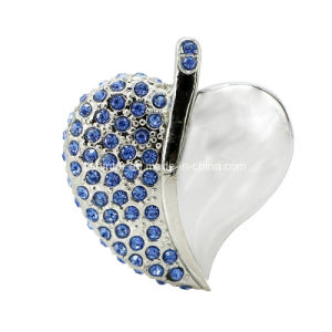 Heart Shape USB Pendrive Metal Crystal Jewelry USB Stick pictures & photos