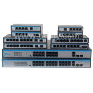 10/100m Single Mode 4 RJ45 Ports Single Fiber Sc20km Poe Network Switch pictures & photos