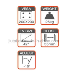 Quick Installed Tilt TV Wall Mount Fit for 17-42′′ pictures & photos