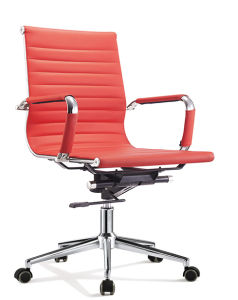 Modern Middle Back Leather Swivel Computer Eames Office Chair (SZ-OC027) pictures & photos