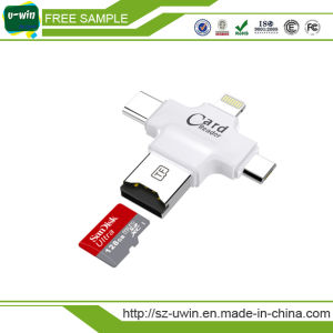Multi-Function Card Reader for iPhone USB Flash Drive pictures & photos