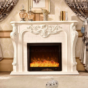 Antique sculpture Home Furniture LED Lights Heating Electric Fireplace (325B) pictures & photos