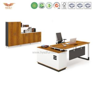 Office Manager Melamine Office Desk with L Shape Return (H90-0107) pictures & photos