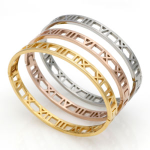 Stylish Stainless Steel Jewelry Women Hollow Fashion Bangle Bracelet pictures & photos