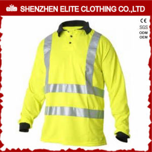 Fluorescent Yellow Hi Vis Workwear Long Sleeve Safety Polo Shirt (ELTSPSI-20) pictures & photos
