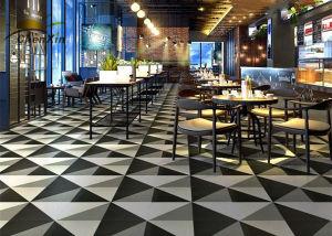 600X600 Polished Porcelain Tiles Antifouling Indoor Dining Room Floor Tiles