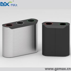 Max Indoor Double Layer Public Recycling Waste Bin for Hotel Lobby Use pictures & photos