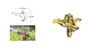"Factory Zinc Alloy Controllable Angle Rotary Sprinkler 1/2"" Male for Lawn Farmland Irrigation pictures & photos"