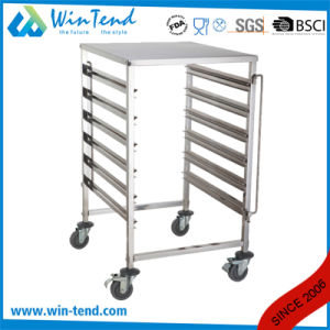 Commercial Stainless Steel M Shape Table Trolley for 1/1 Gn Pan with Working Table pictures & photos