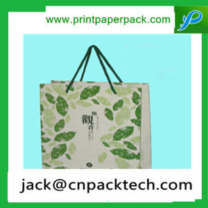Paper Gift Bag Green Kraft Paper Bag with Handle pictures & photos