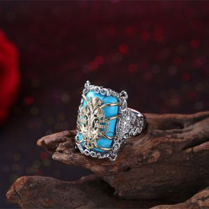 China Style Alloy Fashion Women Rings Plated Gold Color pictures & photos
