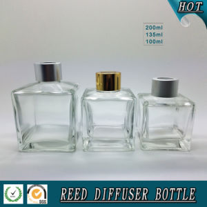 150ml Square Transparent Glass Reed Diffuser Bottle pictures & photos