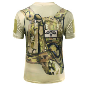 Wolf Slaves Outdoor Tactical Military Python Camo T-Shirt pictures & photos