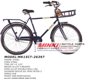 26′′ City Commut Bicycle with Front Rack (MK15CT-26396) pictures & photos