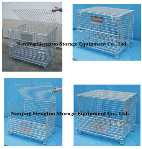Heavy Duty Wire Mesh Storage Cage for Warehouse pictures & photos