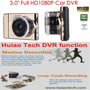 "New Hot 3.0"" Full HD1080p Car Camcorder Dash Camera with H264. MOV DVR Format, 5.0 Mega Car Black Box, 6g Lens, 170degree Angle DVR-3017 pictures & photos"