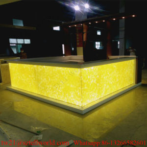 U Shape Translucent Marble LED Light Commercial Bar Counter for Restaurant pictures & photos