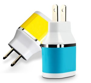 Wholesale Colorful Mobile Phone 2 USB Port DC Charger/Power Plug pictures & photos
