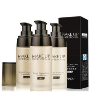 Long Lasting Oil-Control Concealer Base Liquid Foundation Makeup 3 Color Fo0341 pictures & photos