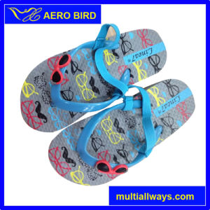 Cute Sunglass PE Flip Flops for Children pictures & photos