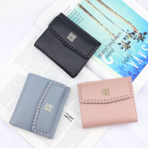Handmade Designer Brand Women Small Wallet with Decorative Border pictures & photos
