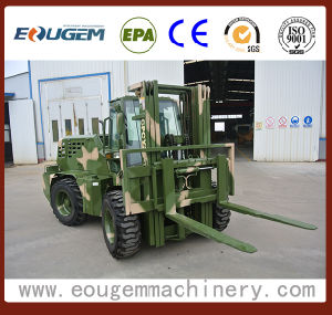 3.5ton Cpcy35 Rough Terrain Forklift with Special Color pictures & photos