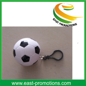 Disposable Raincoat Ball Keychain, PE Raincoat Ball with Keyring pictures & photos