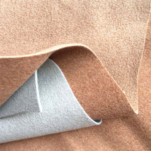 Suede Leather Real Microfiber Leather for Shoes Lining Bags Belts Hw-1574 pictures & photos