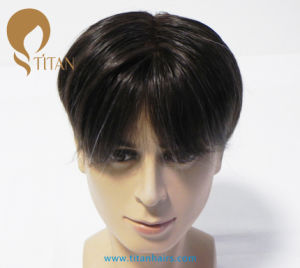 High Quality Free Style Remy Human Hair Toupee for Man