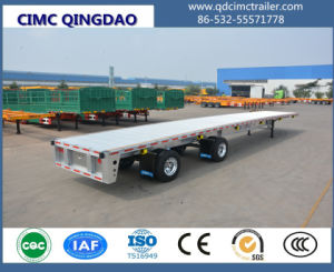 3 Axles 40 Tons Strong Body Flatbed Semi Trailer pictures & photos