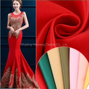 Polyester Satin Eco Friendly Bridal Fabric pictures & photos