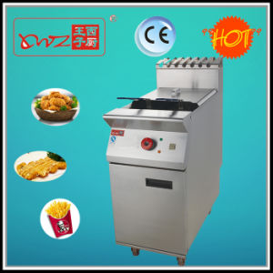 1 Tank 2 Baskets Floor Stand Electric Fryer with Oil pictures & photos