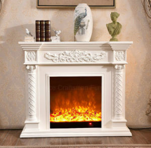 White European LED Lights Heating Electrical Fireplace with Ce (320) pictures & photos