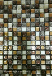 Glass Mosaic with 15X15mm Chip Mix Jy34k pictures & photos