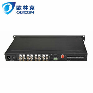 16CH Video + 1CH RS422 Data Optical Video Transmitter