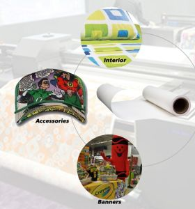 """90GSM 64"""" Non-Curl Quick Dry Sublimation Paper for Inkjet Digital Printing on Polyester pictures & photos"""